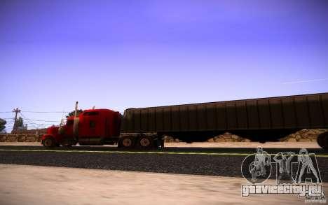 Kenworth W 900L для GTA San Andreas вид сбоку