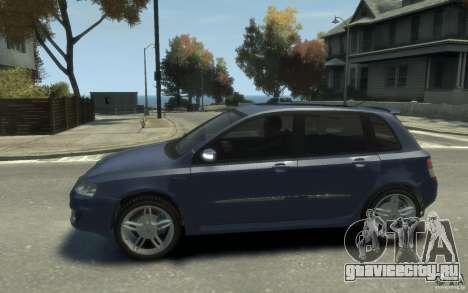 Fiat Stilo Sporting 2009 для GTA 4 вид слева