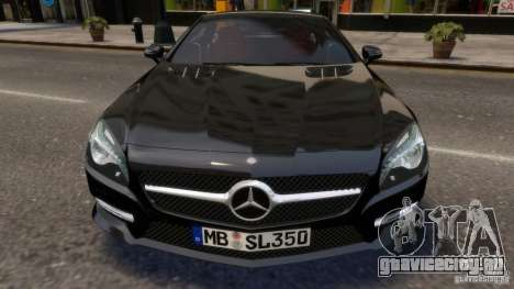 Mercedes-Benz SL 350 2013 v1.0 для GTA 4 вид изнутри