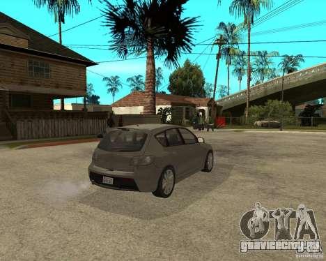 Mazda 3 Sport 2003 для GTA San Andreas вид сзади слева