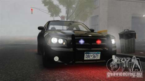 Dodge Charger RT Hemi FBI 2007 для GTA 4 вид изнутри