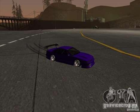 Nissan Silvia S13 Nismo tuned для GTA San Andreas вид изнутри