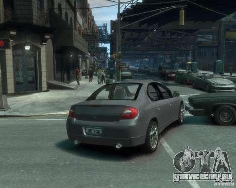 Dodge Neon 02 SRT4 для GTA 4 вид сзади слева