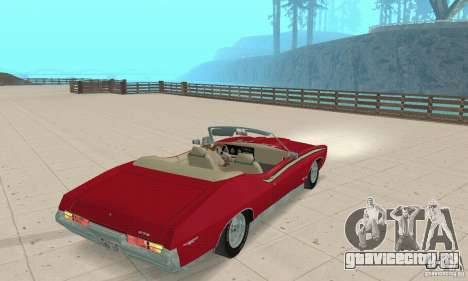 Pontiac GTO The Judge Cabriolet для GTA San Andreas вид слева