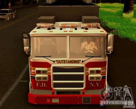 Pumper Firetruck Pierce F.D.N.Y для GTA San Andreas вид сзади
