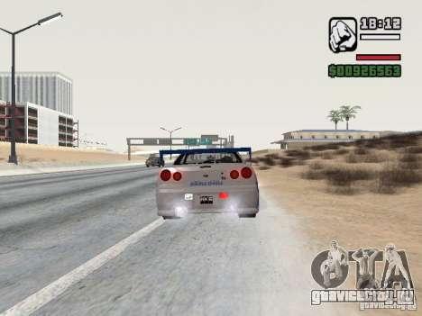 Nissan Skyline GTR34 FNF2 для GTA San Andreas вид слева