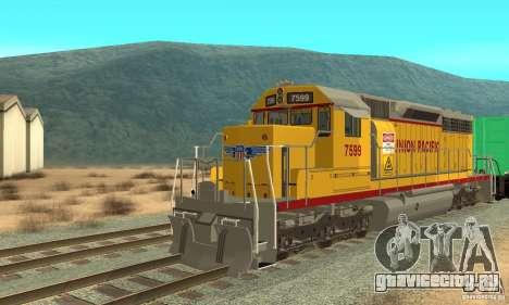 Локомотив SD 40 Union Pacific для GTA San Andreas вид слева