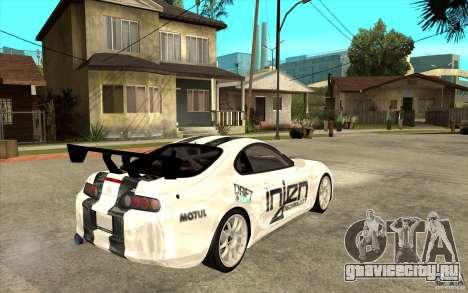 Toyota Supra MK-4 для GTA San Andreas вид справа