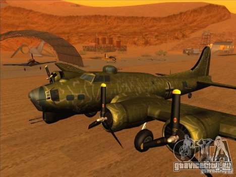 B-17G Flying Fortress (Nightfighter версия) для GTA San Andreas вид сзади слева