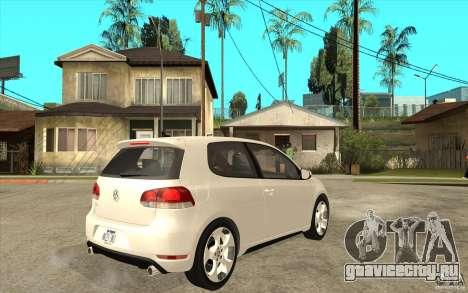 VW Golf 6 GTI для GTA San Andreas вид справа