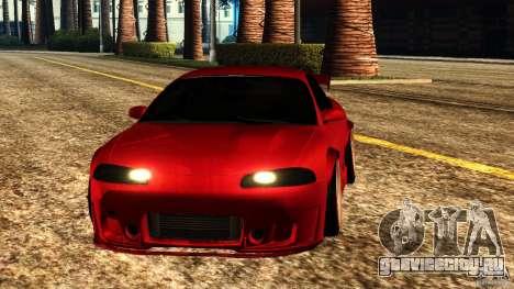 Mitsubishi Eclipse 1998 для GTA San Andreas вид сзади