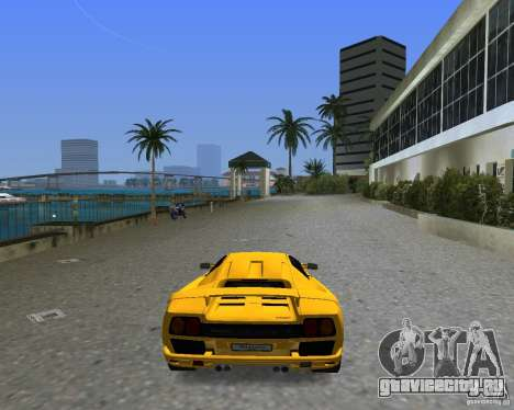 Lamborghini Diablo SV для GTA Vice City вид слева