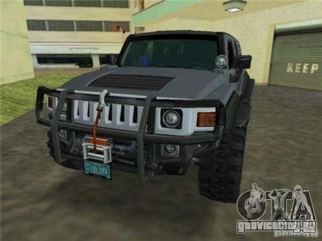 Hummer H3 SUV FBI для GTA Vice City вид сзади слева