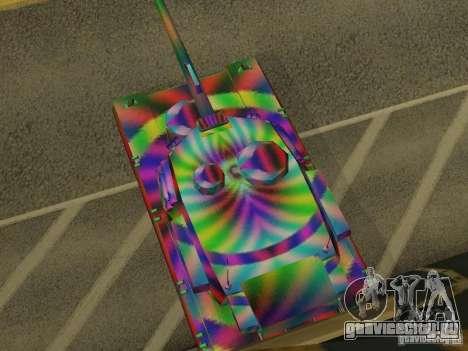 Веселенькая расцветка танка для GTA San Andreas вид справа