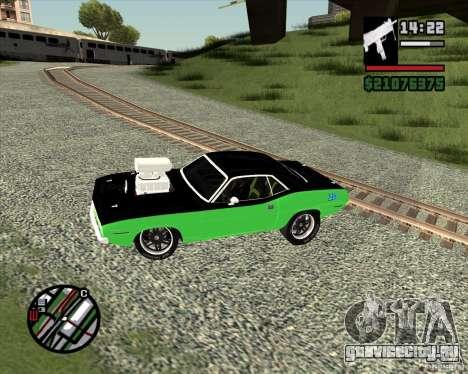 Plymouth Hemi Cuda 440 для GTA San Andreas вид сзади