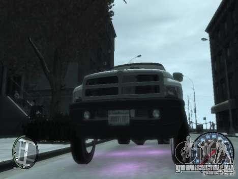 Dodge Ram 3500 для GTA 4 вид изнутри