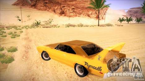 Plymouth Roadrunner Superbird Custom для GTA San Andreas вид сзади слева