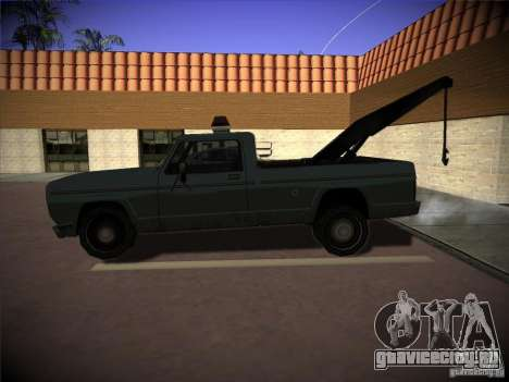Sadler эвакуатор для GTA San Andreas вид слева