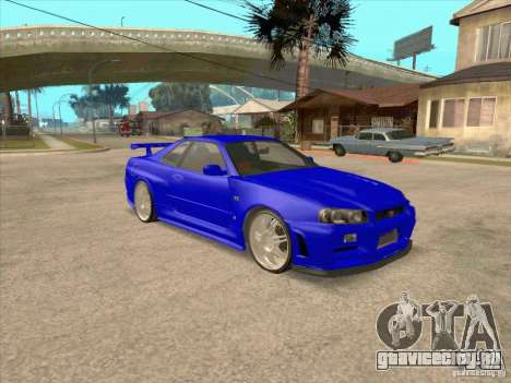 Nissan Skyline GT-R R34 from FnF 4 v.2.0 для GTA San Andreas