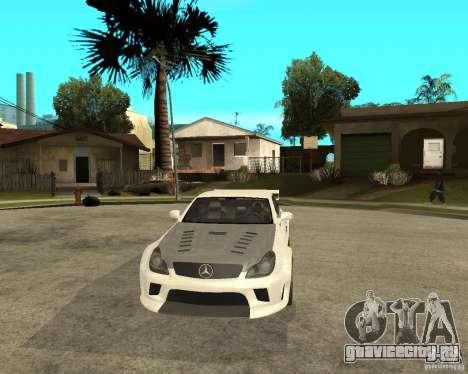 MERCEDES CLS 63 AMG TUNING для GTA San Andreas вид сзади