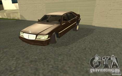 Mercedes-Benz S600 для GTA San Andreas вид сбоку