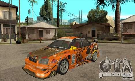 Subaru Impreza D1 WRX Yukes Team Orange для GTA San Andreas