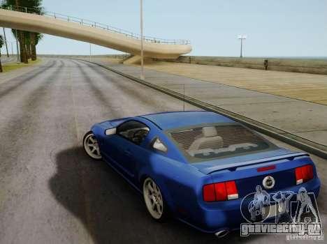 Ford Mustang Twin Turbo для GTA San Andreas вид изнутри