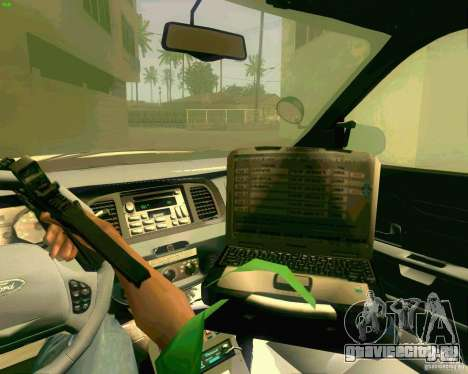 Ford Crown Victoria 2003 NYPD police для GTA San Andreas вид сверху