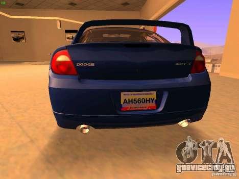 Dodge Neon SRT4 2006 для GTA San Andreas вид сзади слева