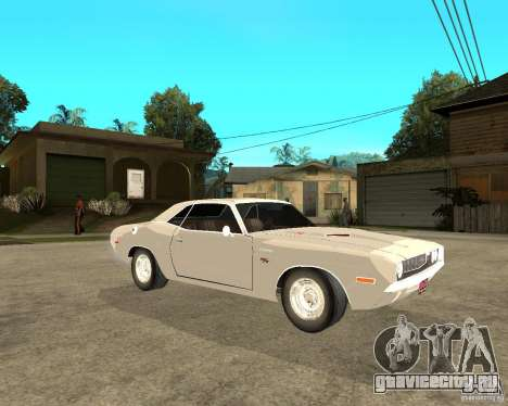 Dodge Challenger R/T Hemi 70 для GTA San Andreas вид справа