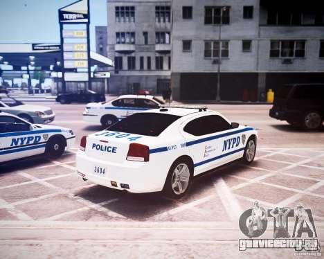 Dodge Charger 2010 NYPD ELS для GTA 4 вид сзади