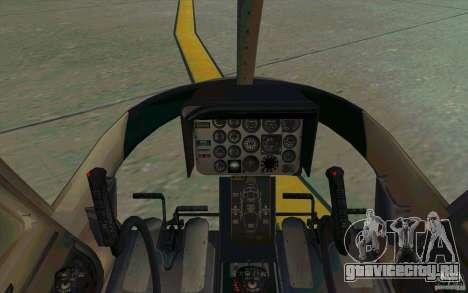 Bell 206 B Police texture1 для GTA San Andreas вид сзади