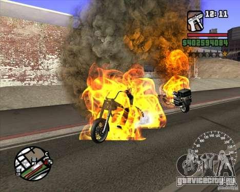 Ghost Rider для GTA San Andreas второй скриншот