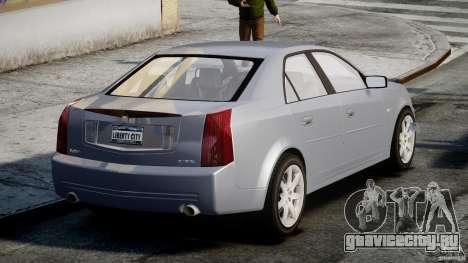 Cadillac CTS-V для GTA 4 вид сзади слева