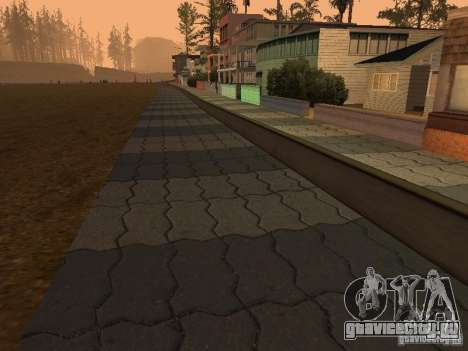 HD Пляж Санта Мария для GTA San Andreas второй скриншот