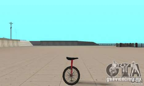 Unicycle для GTA San Andreas вид сзади слева