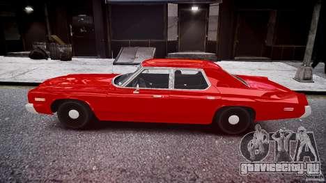 Dodge Monaco 1974 stok rims для GTA 4 вид слева