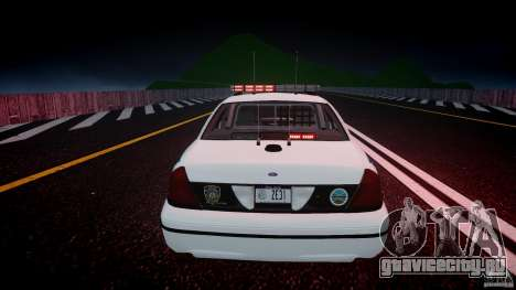 Ford Crown Victoria v2 NYPD [ELS] для GTA 4 салон