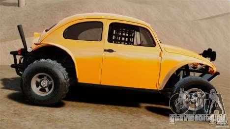 Volkswagen Fusca Buggy 1963 для GTA 4 вид слева