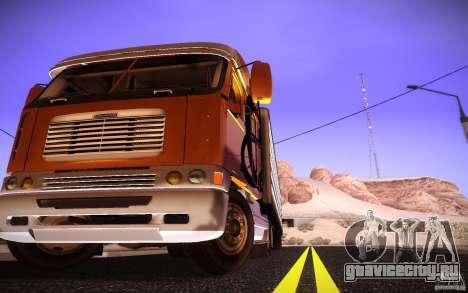 Freightliner Argosy для GTA San Andreas вид справа