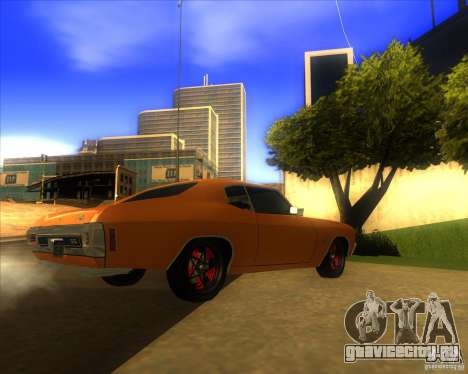 Chevy Chevelle SS Hell 1970 для GTA San Andreas вид сзади слева