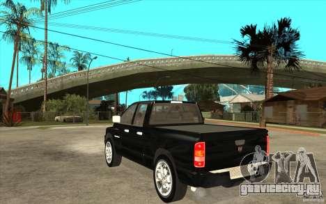Dodge Ram 2500 2008 для GTA San Andreas вид сзади слева