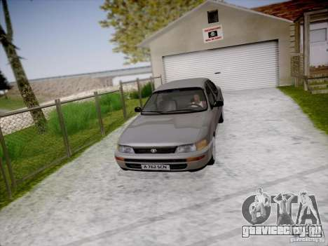 Toyota Corolla для GTA San Andreas вид сзади