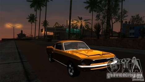 Shelby GT500KR для GTA San Andreas вид снизу