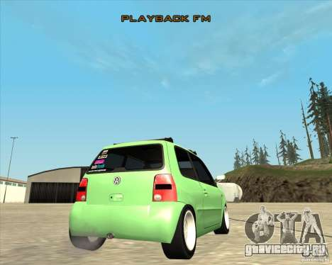 Volkswagen Lupo Hellaflush для GTA San Andreas вид изнутри