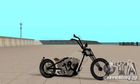 HD Shovelhead Chopper v2.1-матовый для GTA San Andreas вид сзади слева