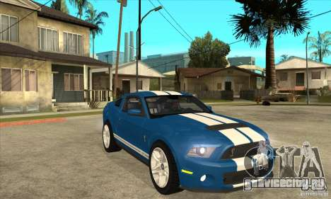 Ford Mustang Shelby GT500 2011 для GTA San Andreas вид изнутри