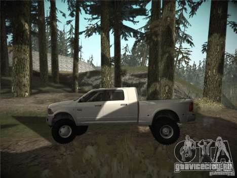 Dodge Ram 3500 4X4 для GTA San Andreas вид слева