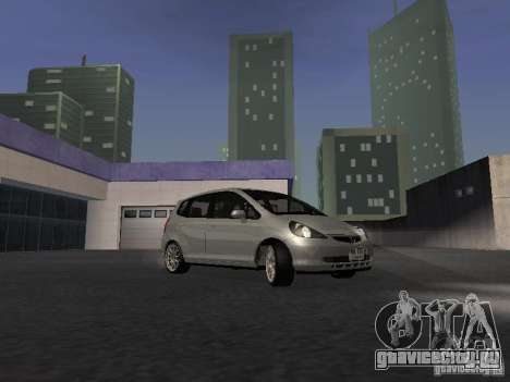 Honda Fit для GTA San Andreas вид сзади
