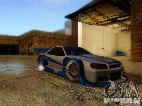 Nissan Skyline GTR34 DTM для GTA San Andreas